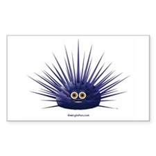 Purple Sea Urchin Rectangle Stickers