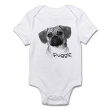 Perfect Puggle Portrait Infant Bodysuit
