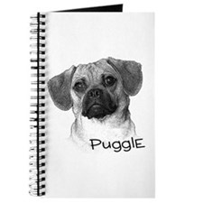 Perfect Puggle Portrait Journal