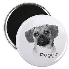 "Perfect Puggle Portrait 2.25"" Magnet (100 pack)"