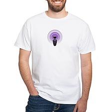 White Podcasting T-Shirt
