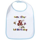 Gone Buggy 1st Birthday Bib