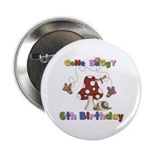 "Gone Buggy 6th Birthday 2.25"" Button"