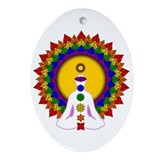 Spiritually Enlightened Oval Ornament