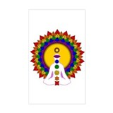 Spiritually Enlightened Rectangle Decal