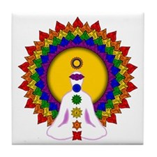 Spiritually Enlightened Tile Coaster