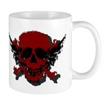 Red and Black Graphic Skull Mug