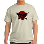 Red and Black Graphic Skull Light T-Shirt