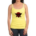 Red and Black Graphic Skull Jr. Spaghetti Tank