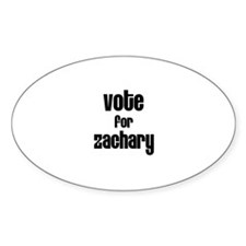 Vote for Zachary Oval Decal