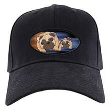 Two Pugs Together Baseball Hat