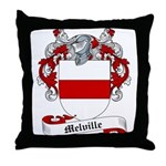 Melville Family Crest Throw Pillow