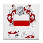 Melville Family Crest Tile Coaster