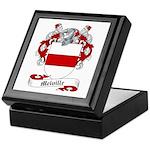 Melville Family Crest Keepsake Box