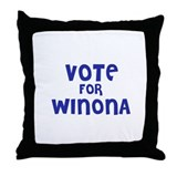 Vote for Winona Throw Pillow