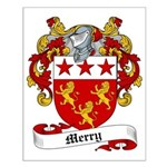 Merry Family Crest Small Poster