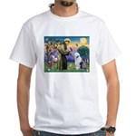 ST. FRANCIS + OES White T-Shirt