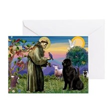 Saint Francis' Newfie Greeting Card
