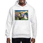 St Francis & Samoyed Hooded Sweatshirt