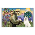 St Francis & Samoyed Rectangle Sticker