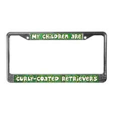 My Children Curly Retriever License Plate Frame
