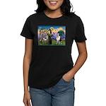 St. Francis/ St. Bernard Women's Dark T-Shirt