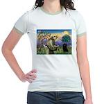 St Francis / Schipperke Jr. Ringer T-Shirt