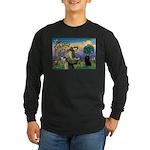 St Francis / Schipperke Long Sleeve Dark T-Shirt