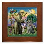 St Francis PS Giant Schnauzer Framed Tile