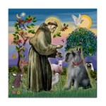 St Francis PS Giant Schnauzer Tile Coaster