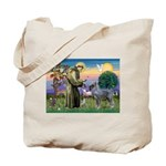 St Francis PS Giant Schnauzer Tote Bag