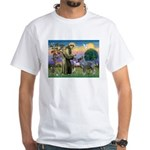 St Francis PS Giant Schnauzer White T-Shirt