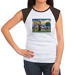 St Francis PS Giant Schnauzer Women's Cap Sleeve T