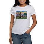 St Francis PS Giant Schnauzer Women's T-Shirt