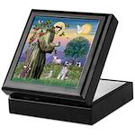 St Francis & Schnauzer (#5) Keepsake Box