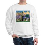 St Francis & Schnauzer (#5) Sweatshirt