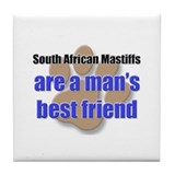 South African Mastiffs man's best friend Tile Coas