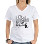 Pavlov's Dogs Women's V-Neck T-Shirt
