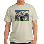 St Francis /Welsh Corgi (p) Light T-Shirt