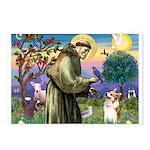 St Francis /Welsh Corgi (p) Postcards (Package of