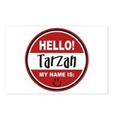 Hello my name is Tarzan Postcards (Package of 8)