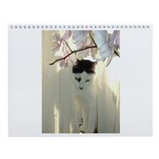 White and Black Cat Wall Calendar