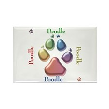 Poodle Name2 Rectangle Magnet