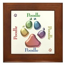 Poodle Name2 Framed Tile