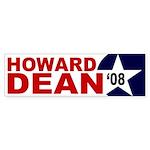 Howard Dean '08 star bumper sticker