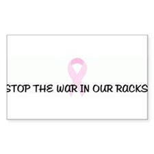 STOP THE WAR IN OUR RACKS! pi Rectangle Decal