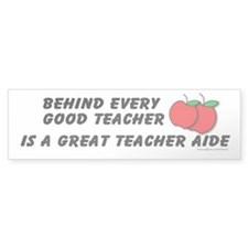 Great Teacher Aide Bumper Sticker