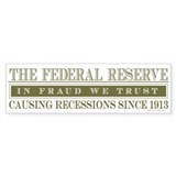 Anti Federal Reserve Bumper Sticker (10 pk)