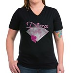 Diva Women's V-Neck Dark T-Shirt