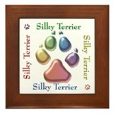 Silky Name2 Framed Tile